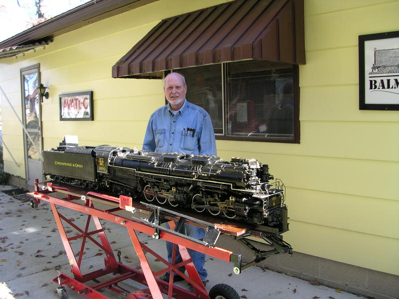 Chuck Balmer with his Allegheny Locomotive