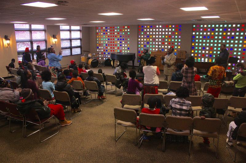 Congolese refugees worship at Grace United Methodist Church, in Dayton