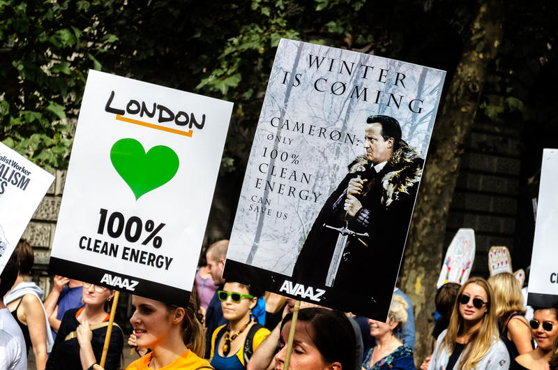 Climate march in London in September, 2014