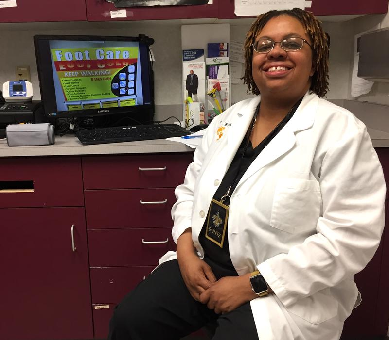 Dr. Tanisha Richmond at her office in Dayton.