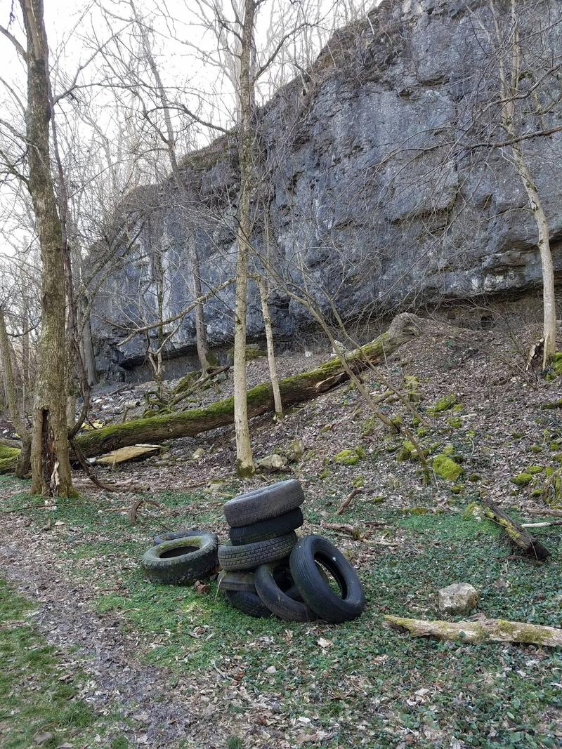 Trash is being removed from the future Mad River Gorge and Nature Preserve in Clark County.  When it opens this summer it will become Ohio's largest rock climbing cliffs.