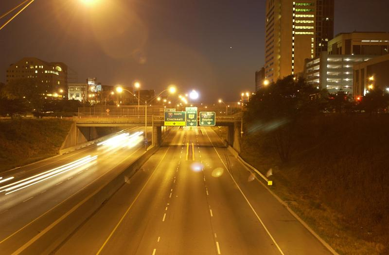 Dayton Springfield Cincinnati highway interstate skyline roadways transportation car automobiles vehicles