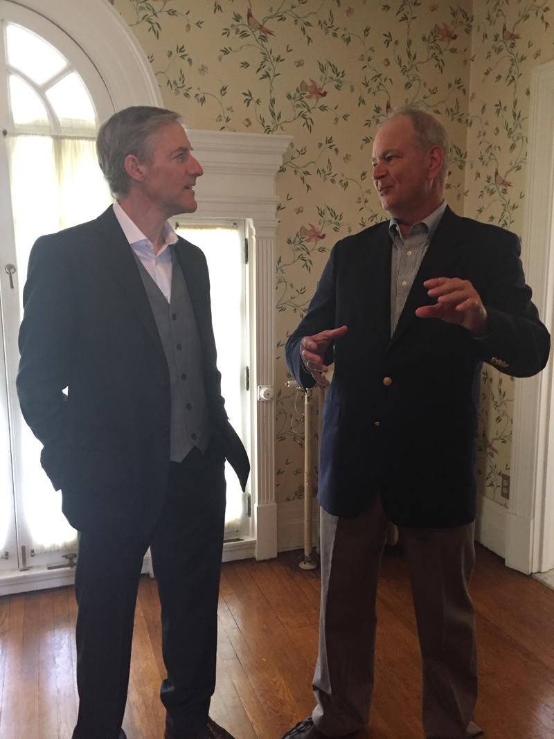 Aviation heirs: Erik Lindbergh and Stephen Wright talk history at Hawthorn Hill