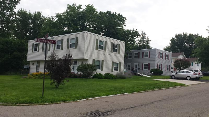 The houses in Greenmont Village are known for their flat roofs