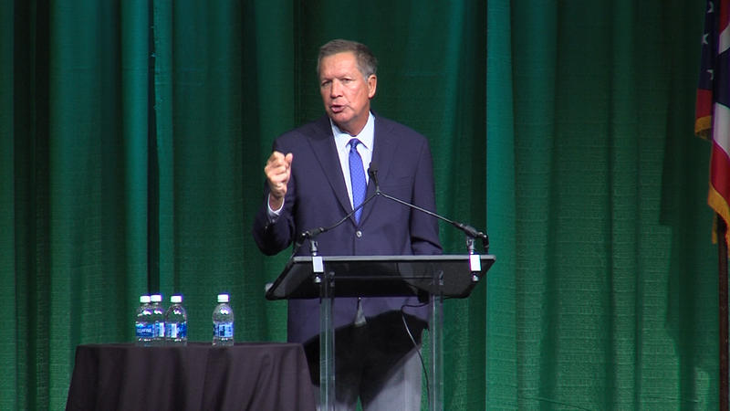 Gov. John Kasich speaking to the Ohio Transportation Engineers Conference in Columbus