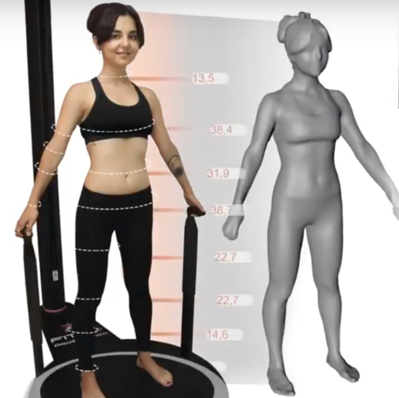 3D body scans generate hundreds of 360-degree measurements.