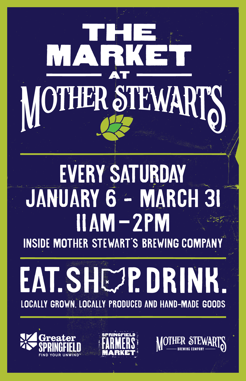 A winter market will be held in Springfield at the Mother Stewart's Brewery.