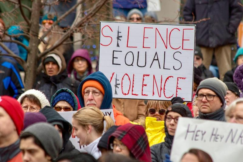 Dayton's March For Our Lives anti-gun-violence rally drew hundreds of protesters to Courthouse Square
