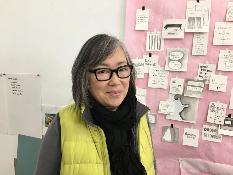 Migiwa Orimo in her Yellow Springs studio, January 2018.