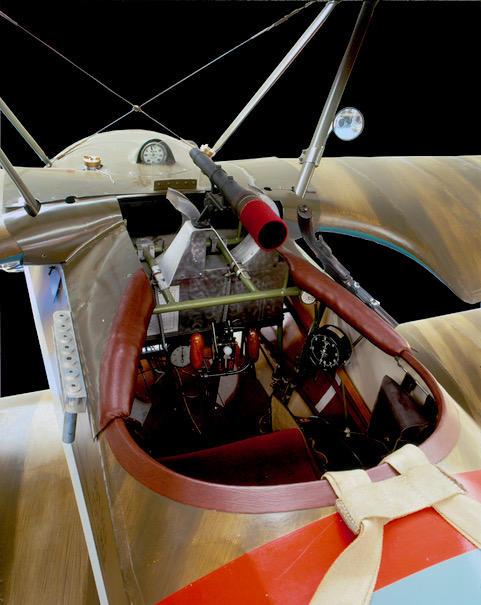 Cockpit of Fokker Dr. 1, Musee de'l air et Space, Le Bourget, Paris