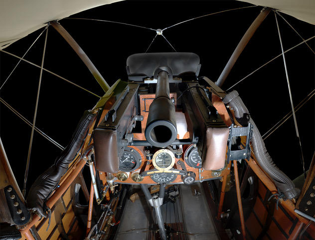 Replica Sopwith Camel cockpit, operated by Russ Turner, Jamestown, OH