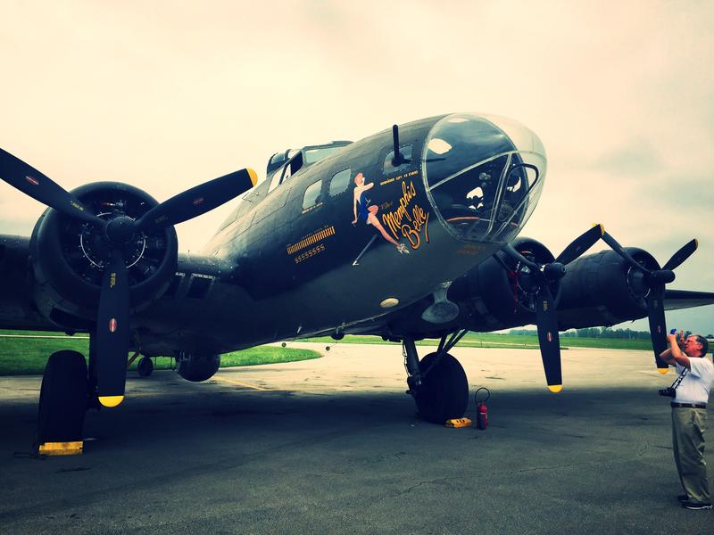 The 'Movie Memphis Belle' appearing this week at Grimes Field airbase in Urbana, Ohio.