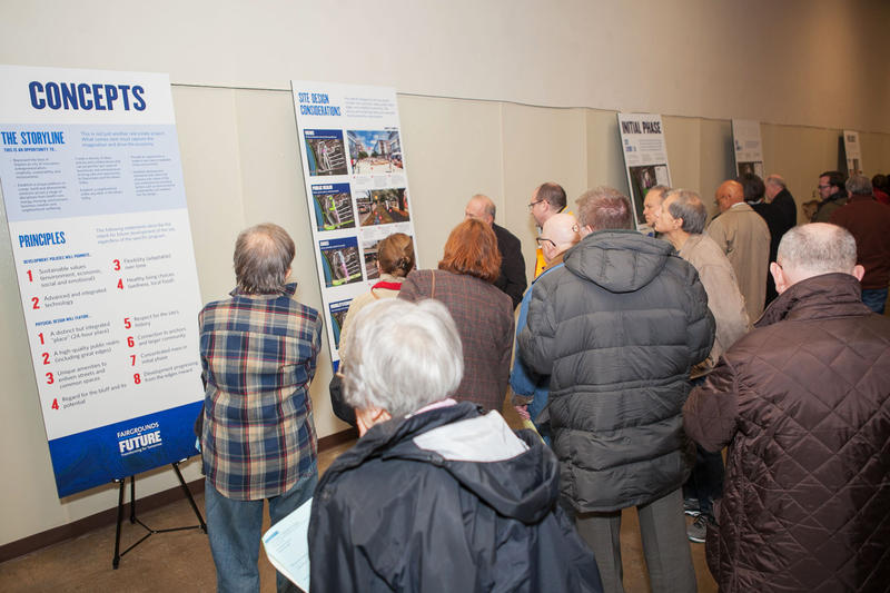 Premier Health and the University of Dayton say 42 groups and more than 600 people contributed more than 1,300 ideas for the fairgrounds redevelopment project.