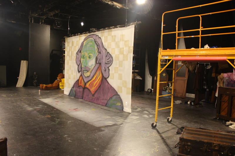 The set for the Human Race Theatre's production of The Complete Works of William Shakespeare (Abridged) gives the actors plenty of room to move.