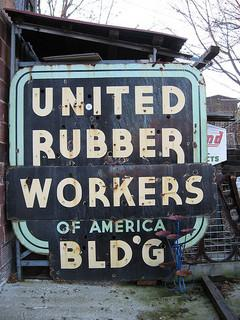 United Rubber Workers of America Building near Old Main St. in Akron