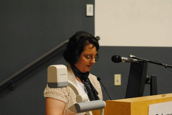 Carrie Bebris reading at the 2012 Antioch Writers' Workshop