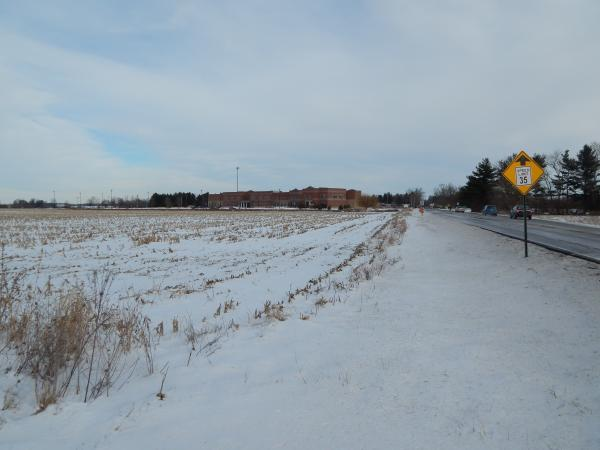 The site of the potential business park at the edge of Yellow Springs.