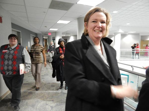 Mayor Nan Whaley at a recent opening for an AIDS health center in Dayton.