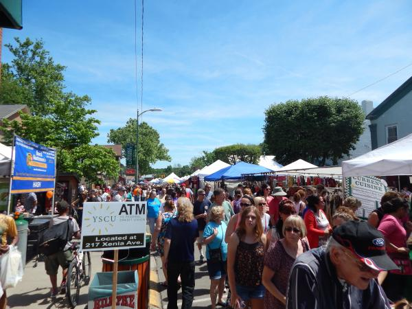 Yellow Springs packs its downtown twice a year for the street fair.