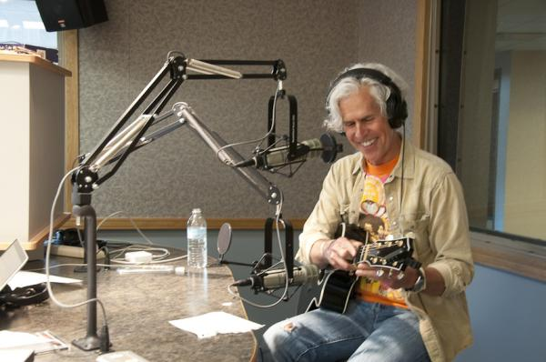 Rob Fetters in the WYSO studio