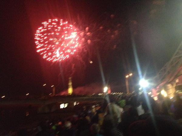 Fireworks at Dayton's Riverscape Park Thursday. 4th of July