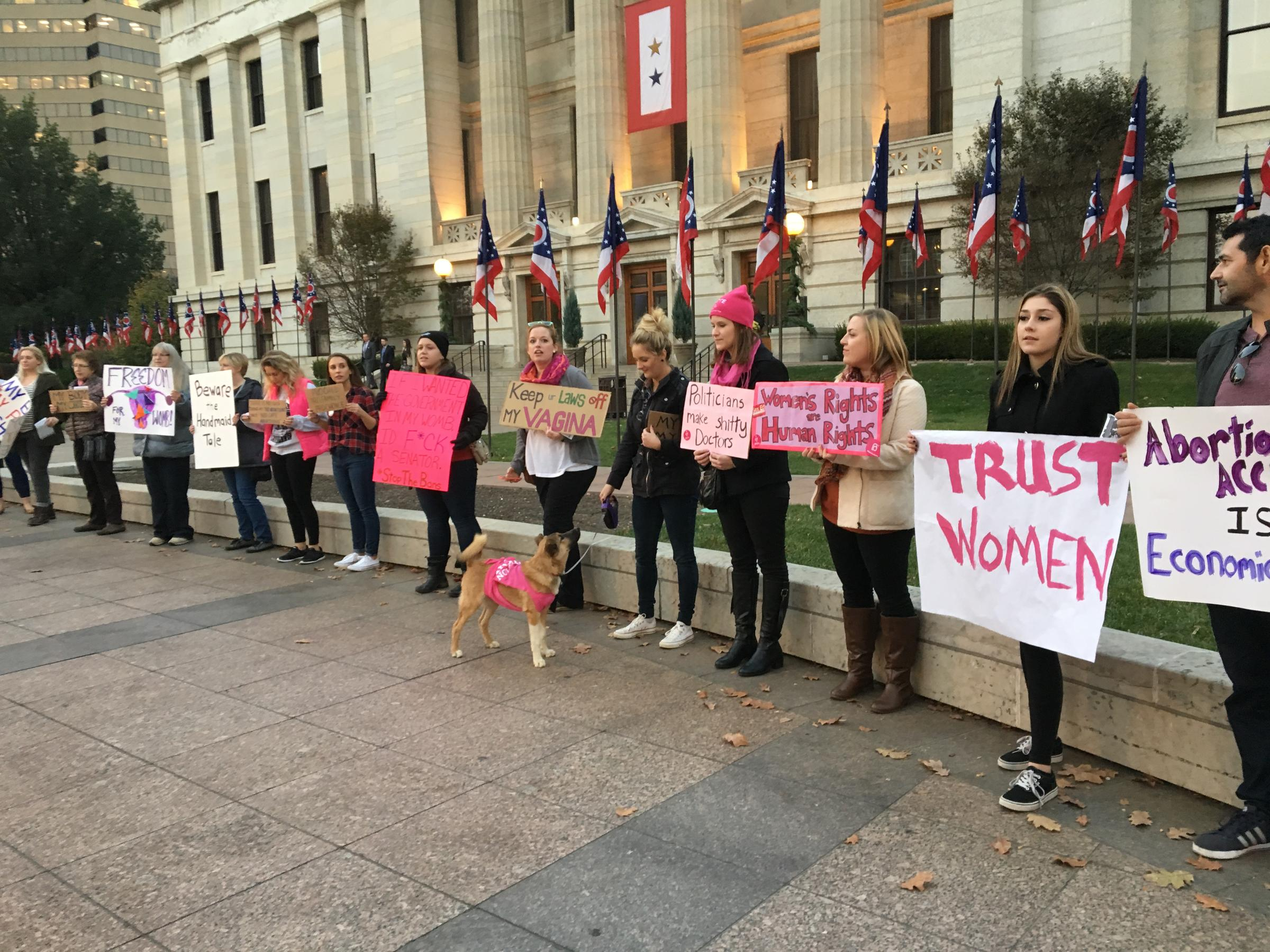 Abortion clinic protest pictures