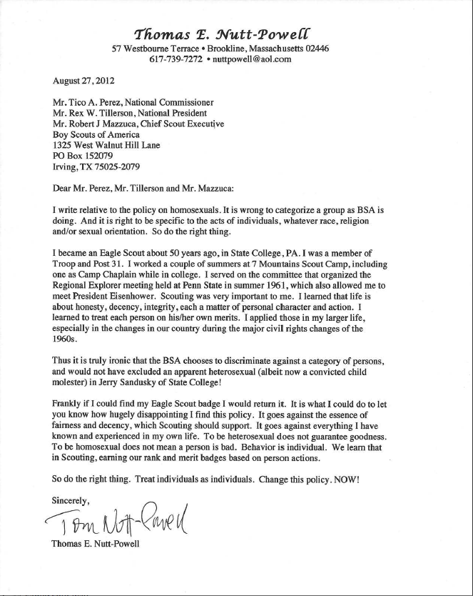 Boy Scout Letter Of Recommendation Example Docoments Ojazlink