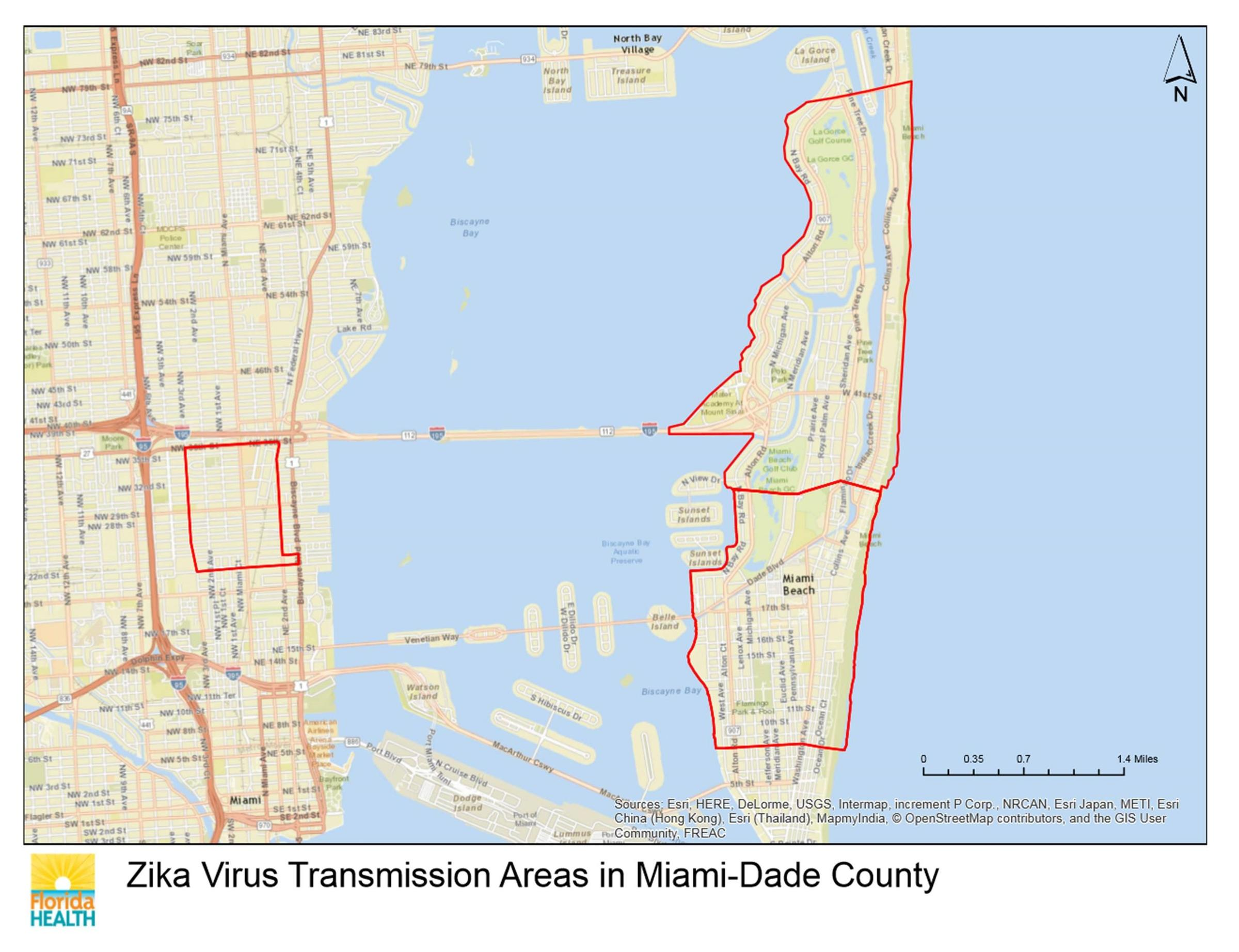 Officials Expand Miami Beach Zika Transmission Zone