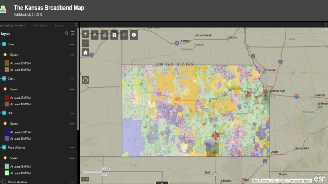 New broadband map shows swath of western Kansas without internet access
