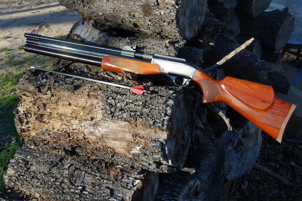 The Dragon Claw air rifle for hunting with propelled arrows | HPPR