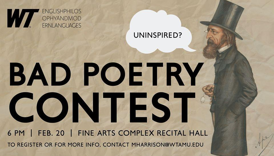 Roses Are Red (or Something): Bad Poetry Competition Hits WT This Thursday  | HPPR
