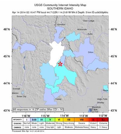 Earthquake Swarm Continues To Shake Central Idaho