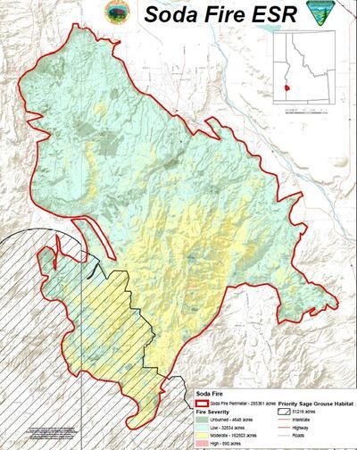 soda fire map idaho Fly Over The Soda Fire Rehabilitation Teams Already Making Plans