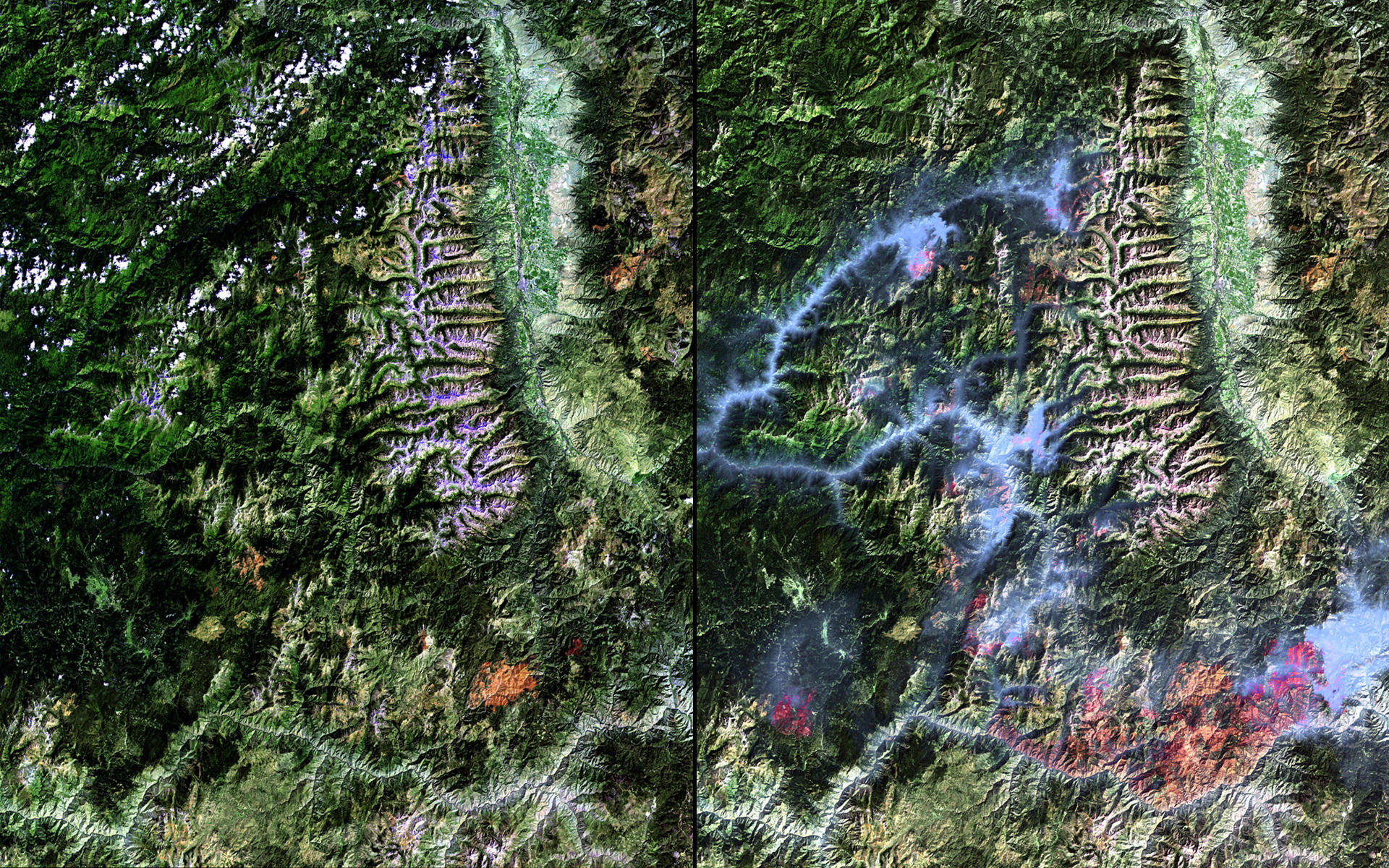 NASA Images Show How Wildfire, Water Have Changed Western