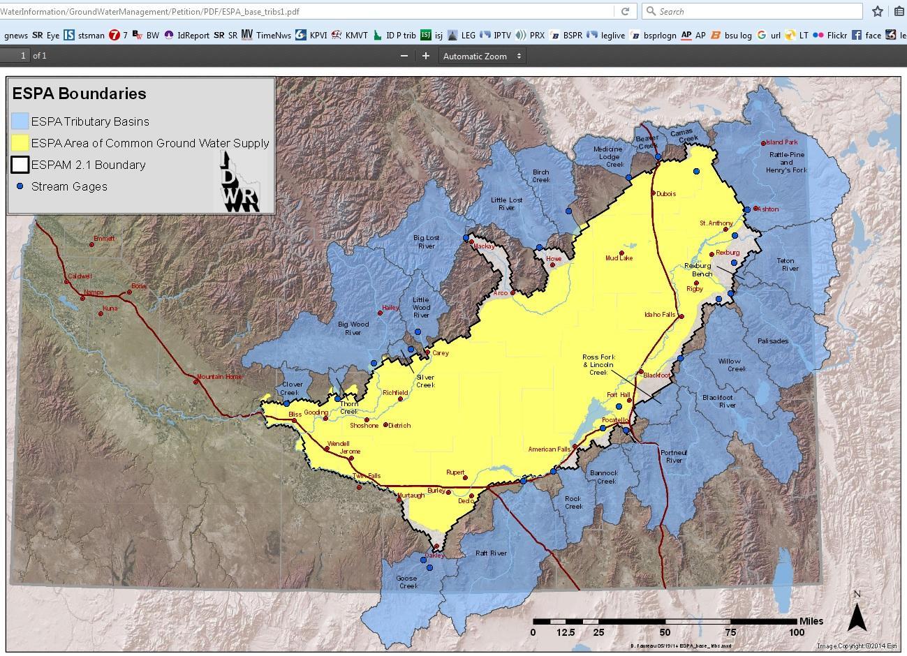 Watering Idaho The Snake River Plain Aquifer Boise State Public Radio - Aquifer-map-us