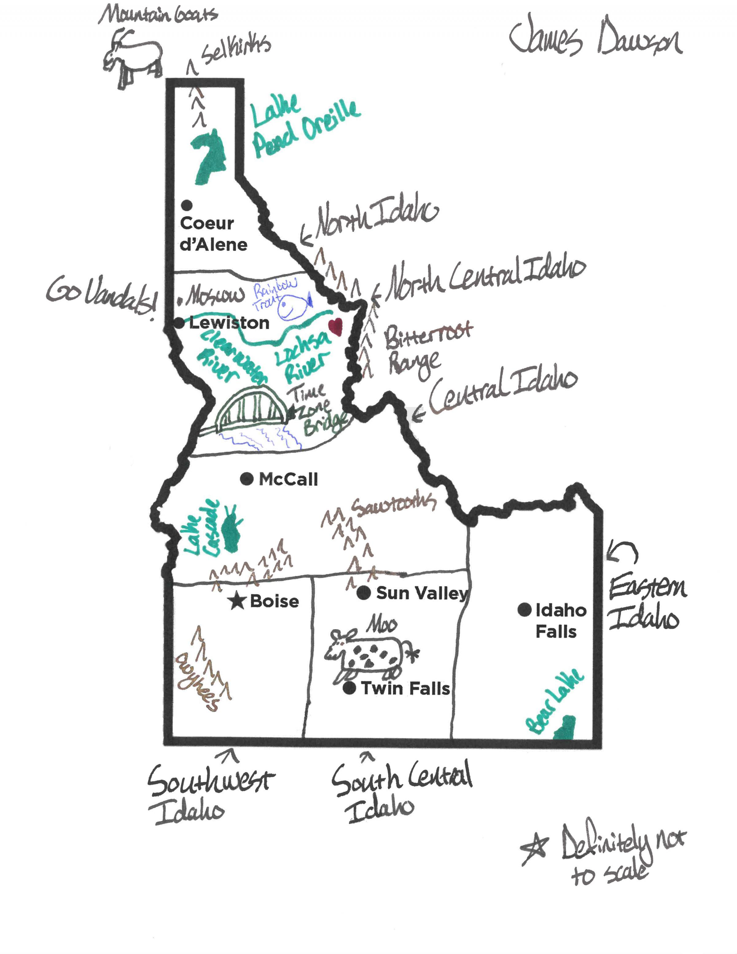 boise idaho time zone map Here We Have Idaho How Would You Draw A Map Of Our State Boise boise idaho time zone map