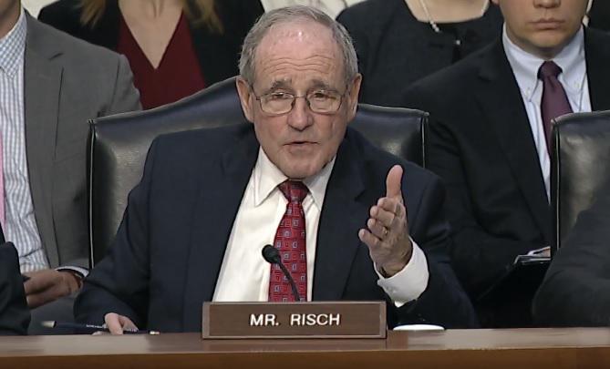 Idaho Senator Jim Risch Highlights Micron Case At Worldwide Threat Hearing  | Boise State Public Radio