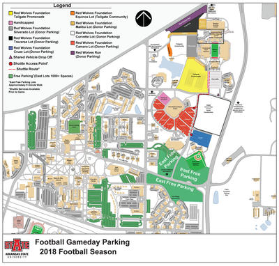 A-State Releases New Football Game Day Parking Map | KASU