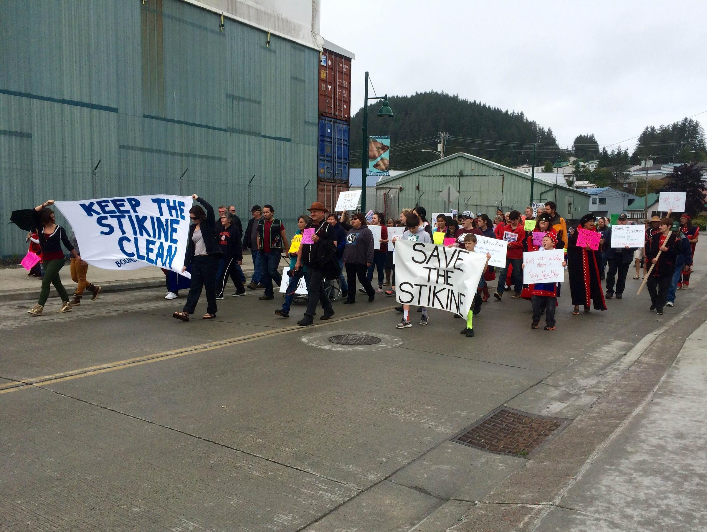 KNBA News - Wrangell residents protest British Columbia