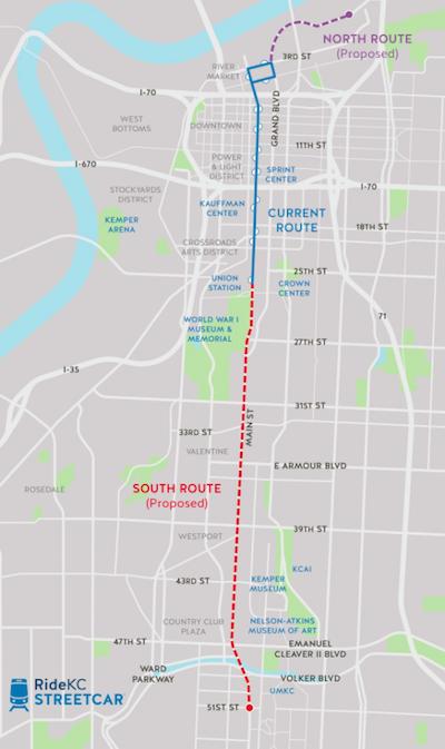 North End Of Kansas City Streetcar Extension Won't See Federal ... on kc rail map, kc bus map, la streetcar map, dc streetcar map, kc metro map, portland streetcar map,