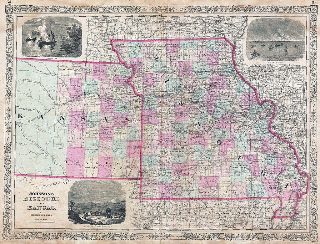 Map Of Kansas And Missouri Will 2014 Be The Year To End The Kansas Missouri Border War? | KCUR Map Of Kansas And Missouri