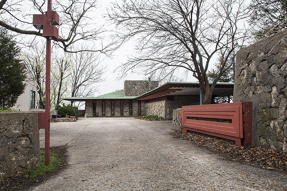 Frank Lloyd Wright Designed This Stone And Concrete Desert Style Home For