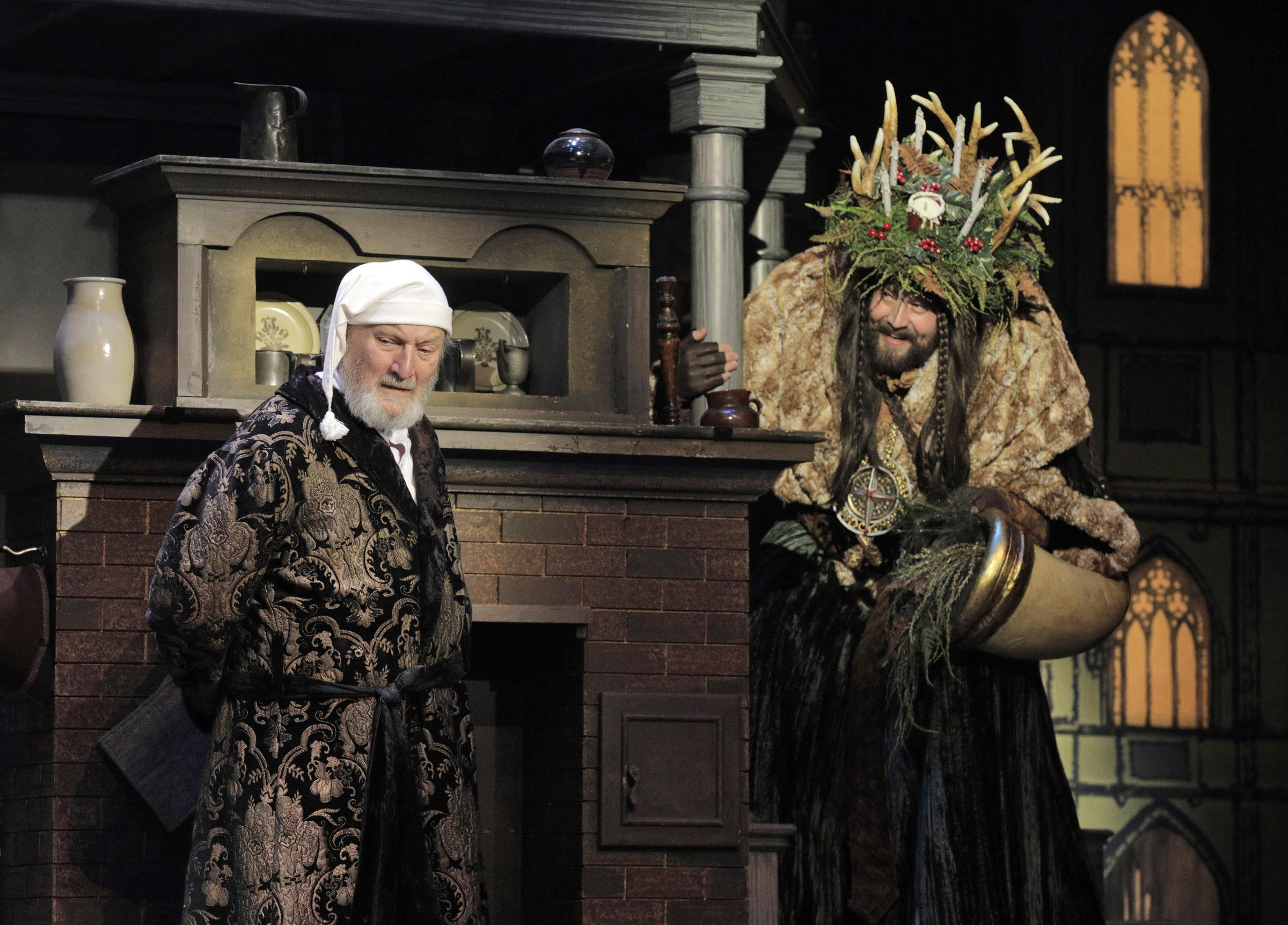 Ghost Of Christmas Present Costume.New Version Of A Christmas Carol Is A Dream Come True For