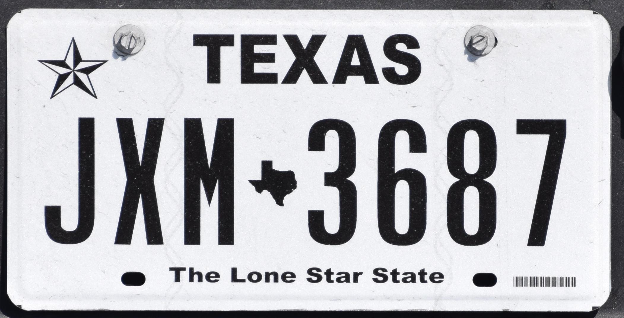 Texas License plate numbers Kansas city