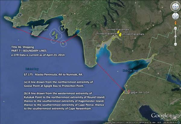 Us Coast Guard Boundary Line Map Boundary Line Confusion in Bristol Bay | KDLG