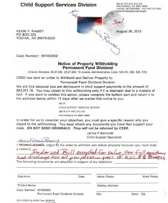 Togiak sovereign citizen indicted for unpaid child support