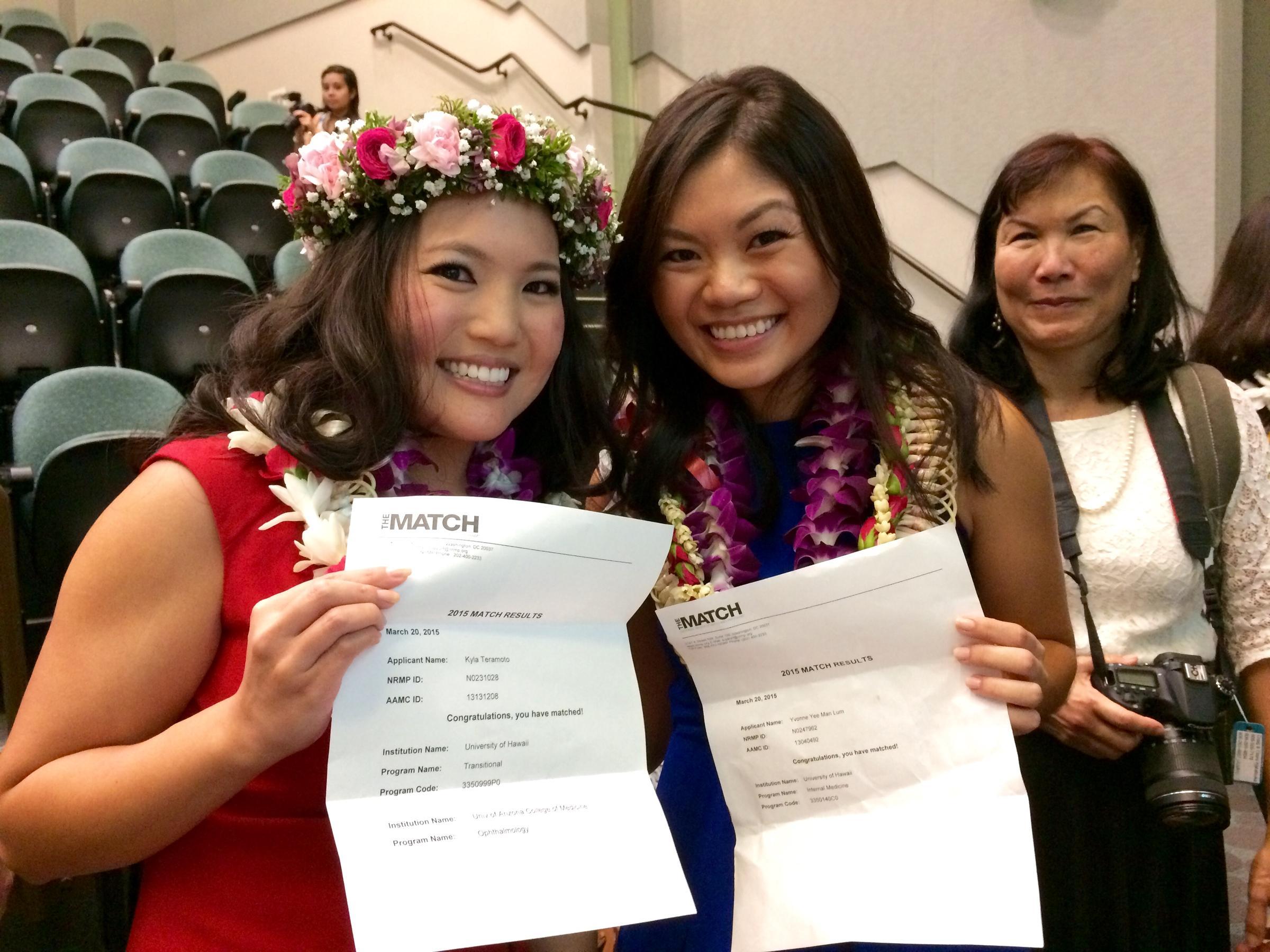 JABSOM Med School Students Meet Their Match | Hawaii Public