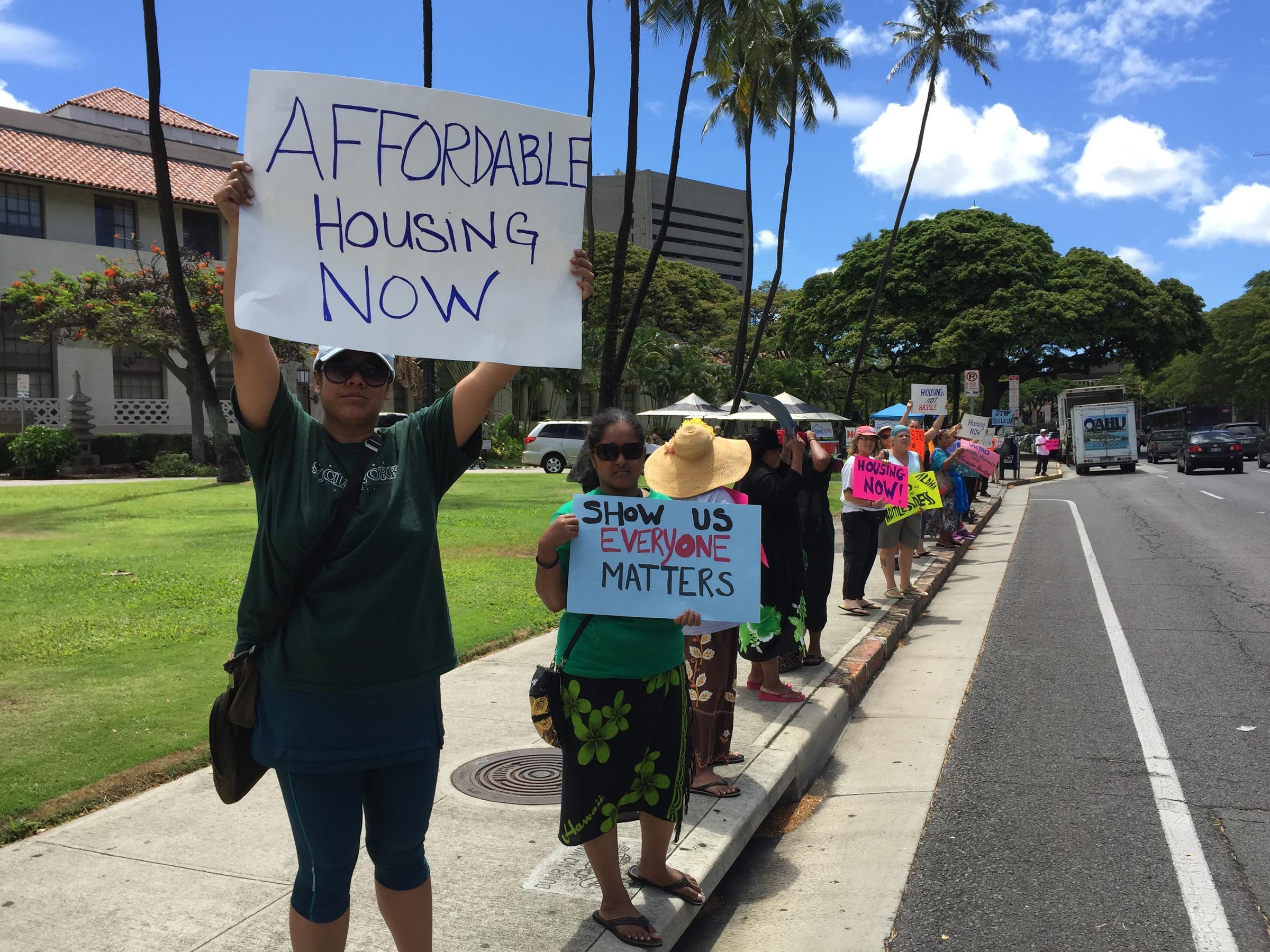 Housing Now Rally at Honolulu Hale | Hawaii Public Radio