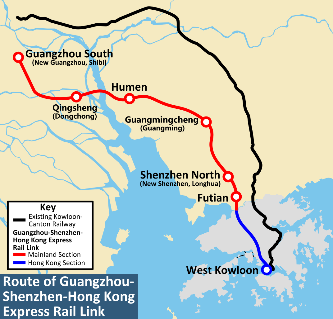 Map Of Asia Railways.Asia Minute Hong Kong S High Speed Rail Opens With
