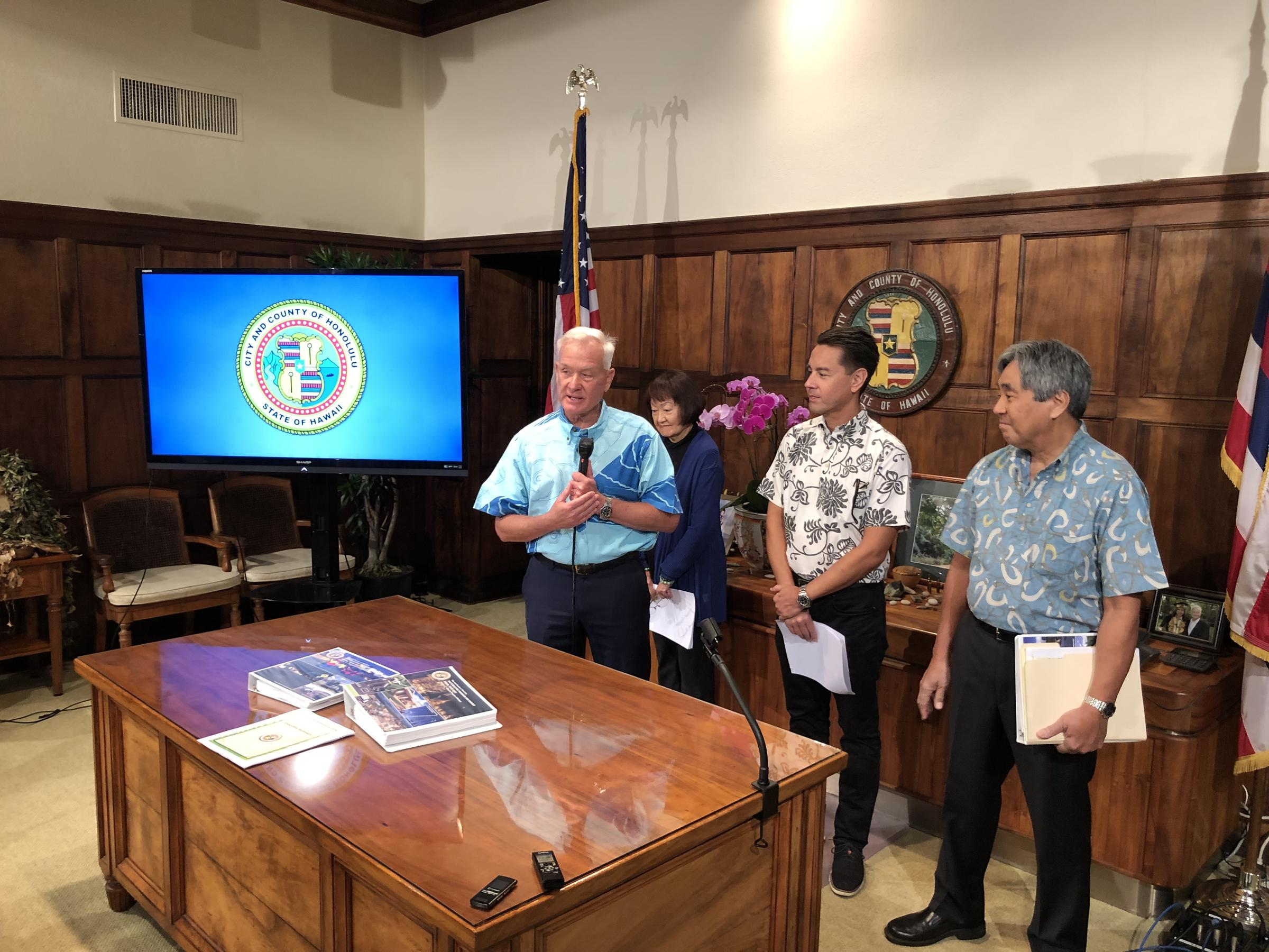 Honolulu Mayor Rolls Out Proposed 2020 Spending Plan Hawaii Public Radio In 1850, kamehameha iii proclaimed honolulu the capital city of the independent. honolulu mayor rolls out proposed 2020